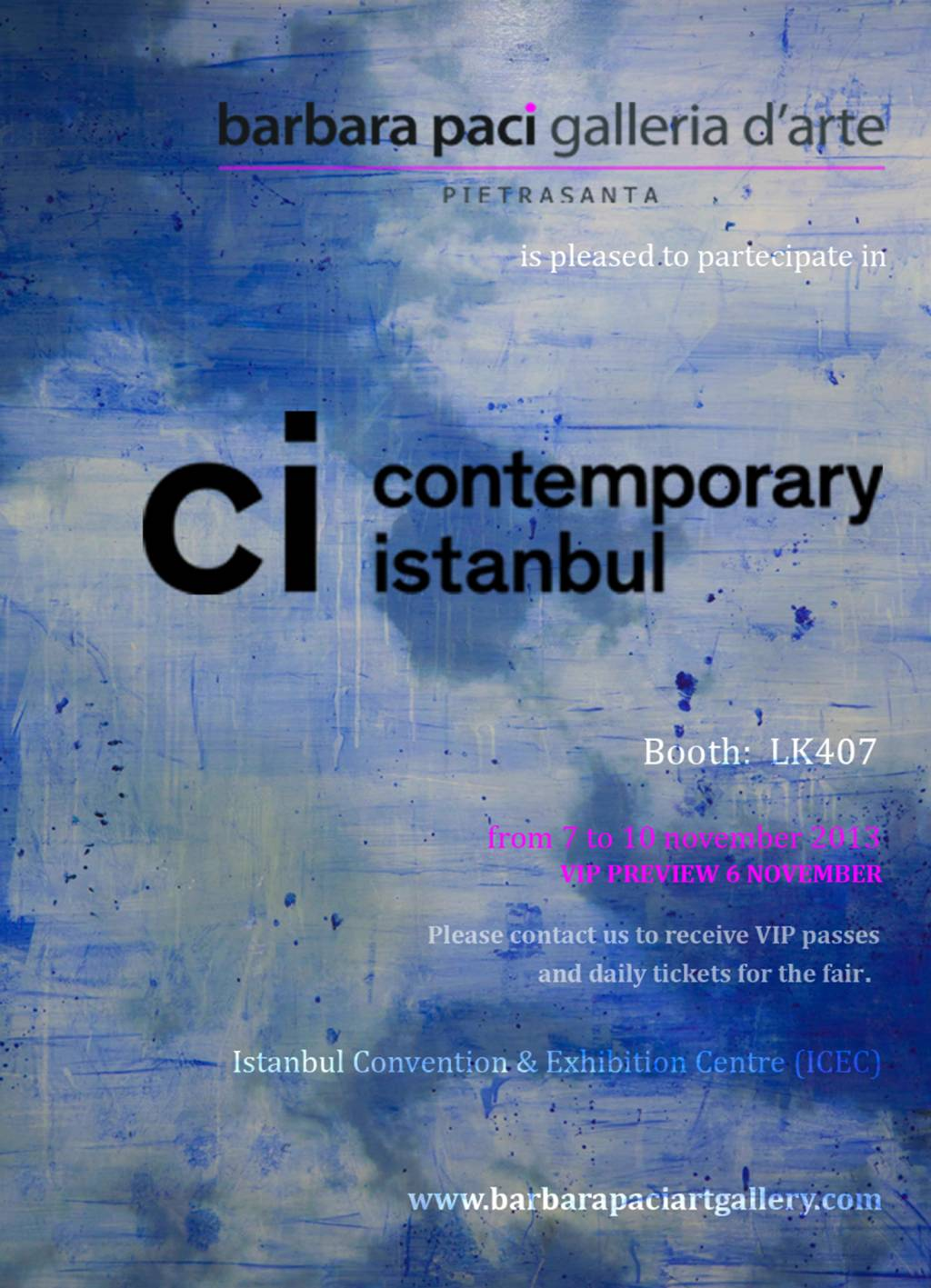 Contemporary Istanbul Art Fair - Turchia | Novembre 2013