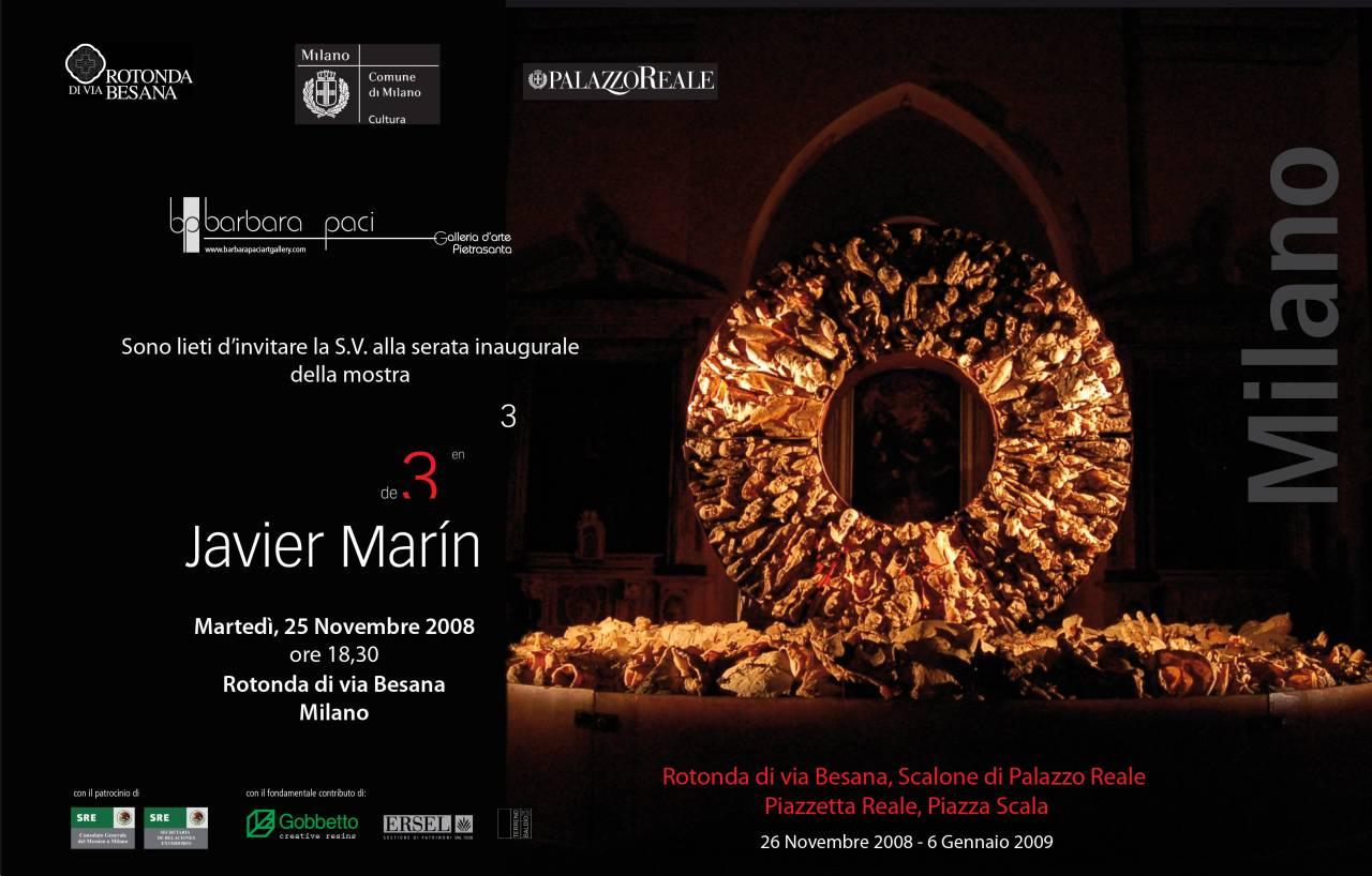 Javier Marìn - De 3 en 3 - Milano | Novembre 2008 - Gennaio 2009