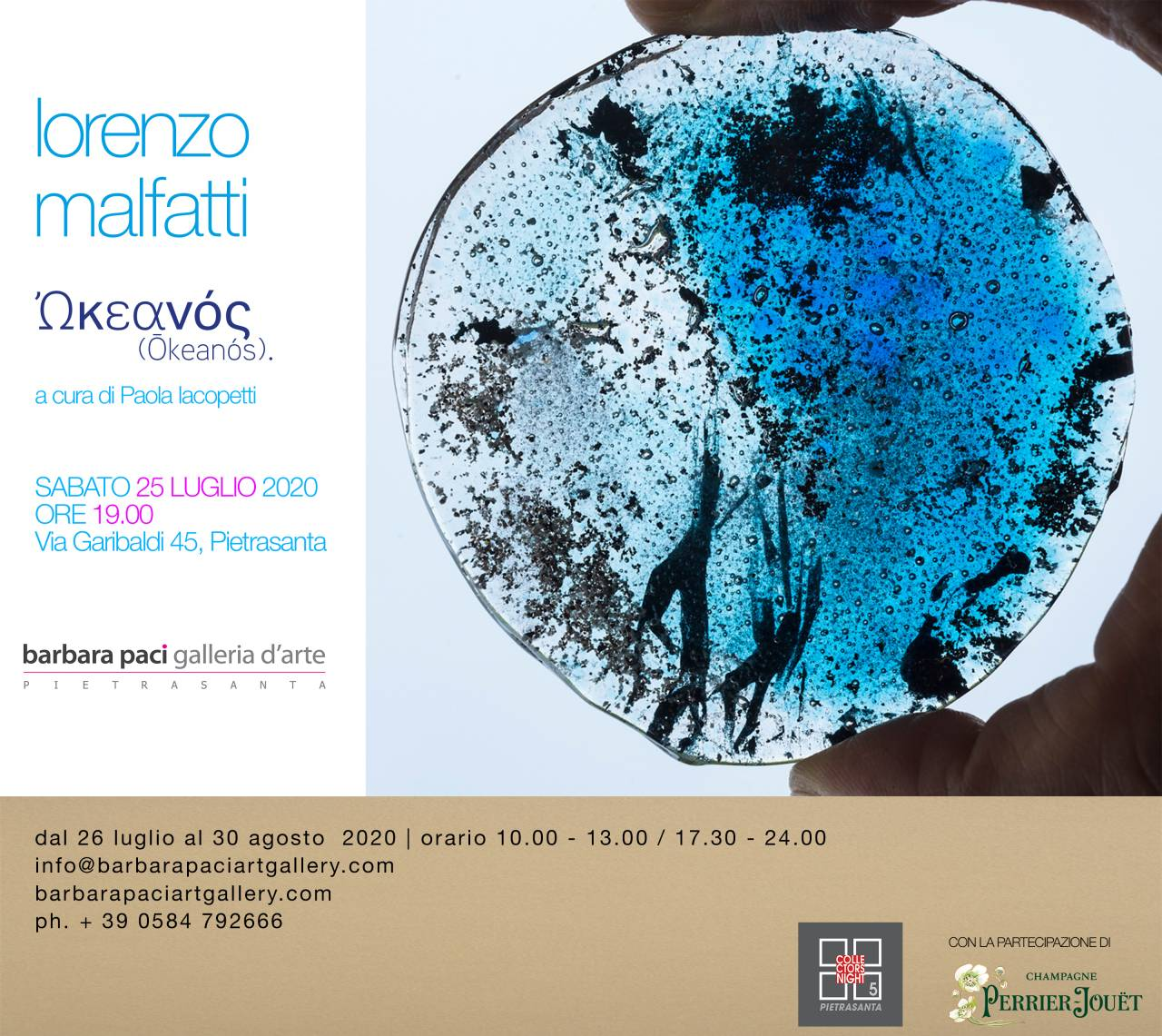 Lorenzo Malfatti - ᾿Ωκεανός (ŌkeanÓs). - 25 Luglio - Galleria d